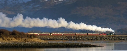The famous Ffestiniog railway (10 mins)