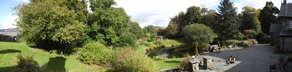 Views: Panoramic view of lake and woodland