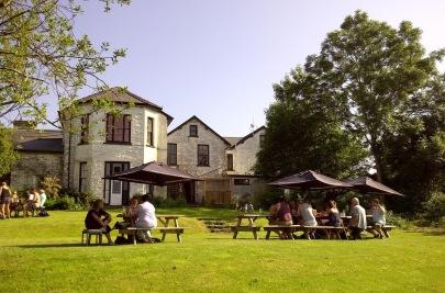 The local pub (5 mins walk)