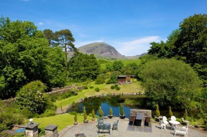 Rooms with views: The lake with Manod mountain in the background