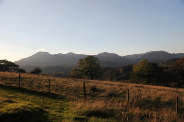 Mountain views from the estate in Autumn