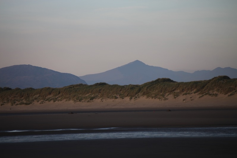 Snowdon from Harlech Beach