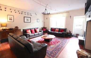 Comfortable seating in a traditional setting (Old Bell House)