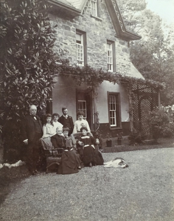 A family portrait, in front of what is now Lake House (early 1900s descendants of Evan Parry Jones and Jane Vaughan)