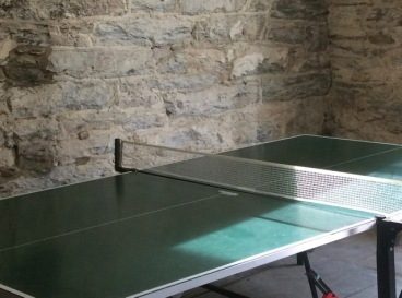 The old laundry is now a games room (table tennis and small pool table)